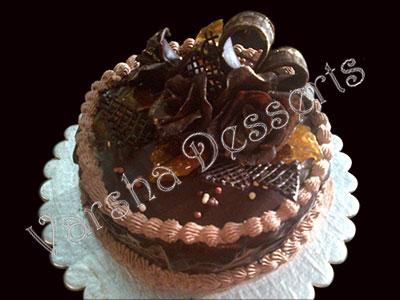 Decoration Of Chocolate Truffle Cake : CHOCOLATE TRUFFLE WITH CHOCOLATE FONDAN DECORATION ...