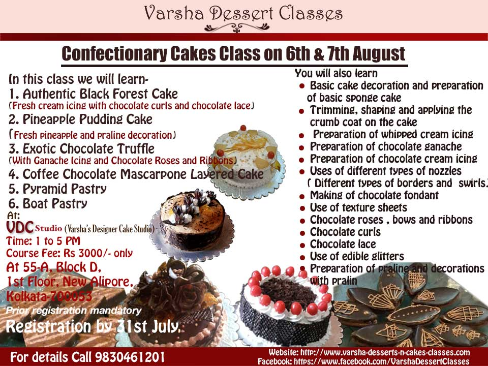 Varsha-Desserts-n-Cakes-Classes Desserts N Cakes Classes in Kolkata