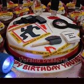 DETECTIVE THEME CAKE
