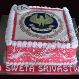 FONDANT PHOTO & SUGAR LACE CAKE DECORATION