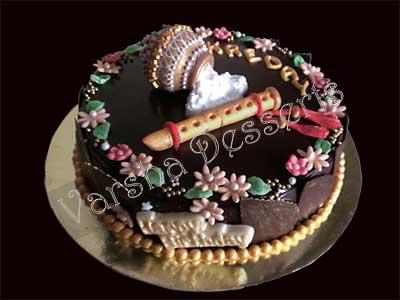 Cake Making Classes In Kolkata : KANHAIYA FONDANT CAKE Varsha-Desserts-n-Cakes-Classes
