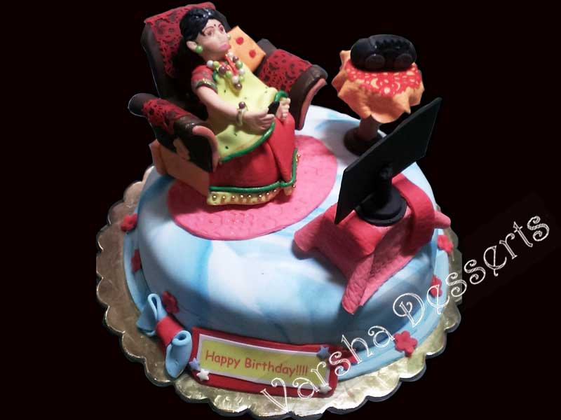 Fondant Birthday Cakes For Moms images