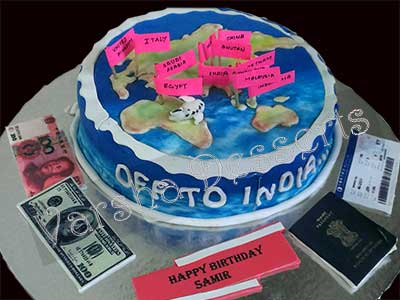 WORLD TOUR THEME CAKE