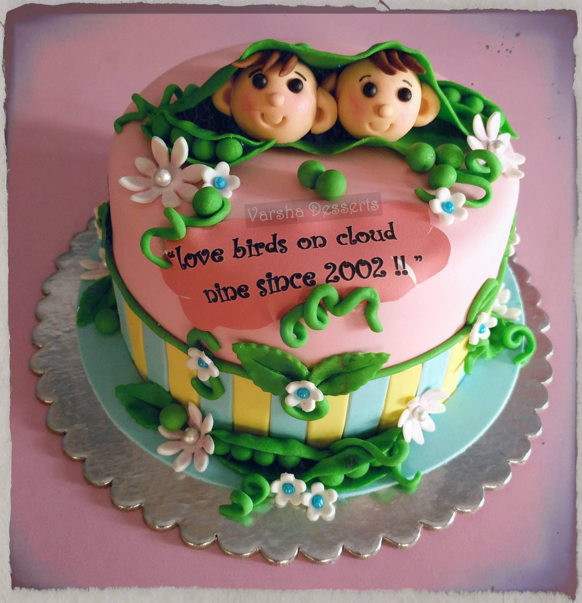 LOVE BIRDS THEME CAKE