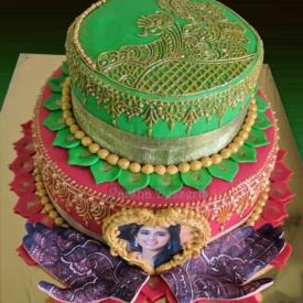 MEHENDI THEME CAKE
