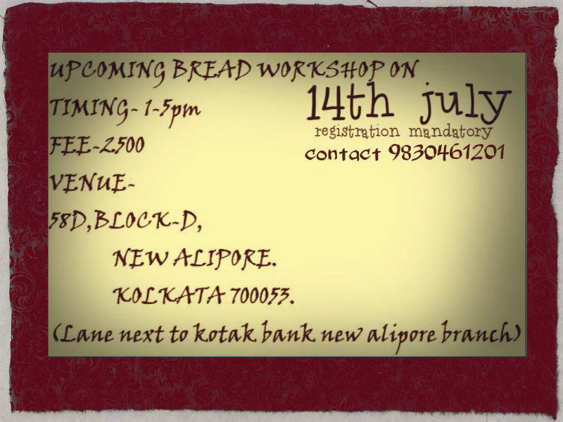 BREAD MAKING WORKSHOP ON 14TH JULY