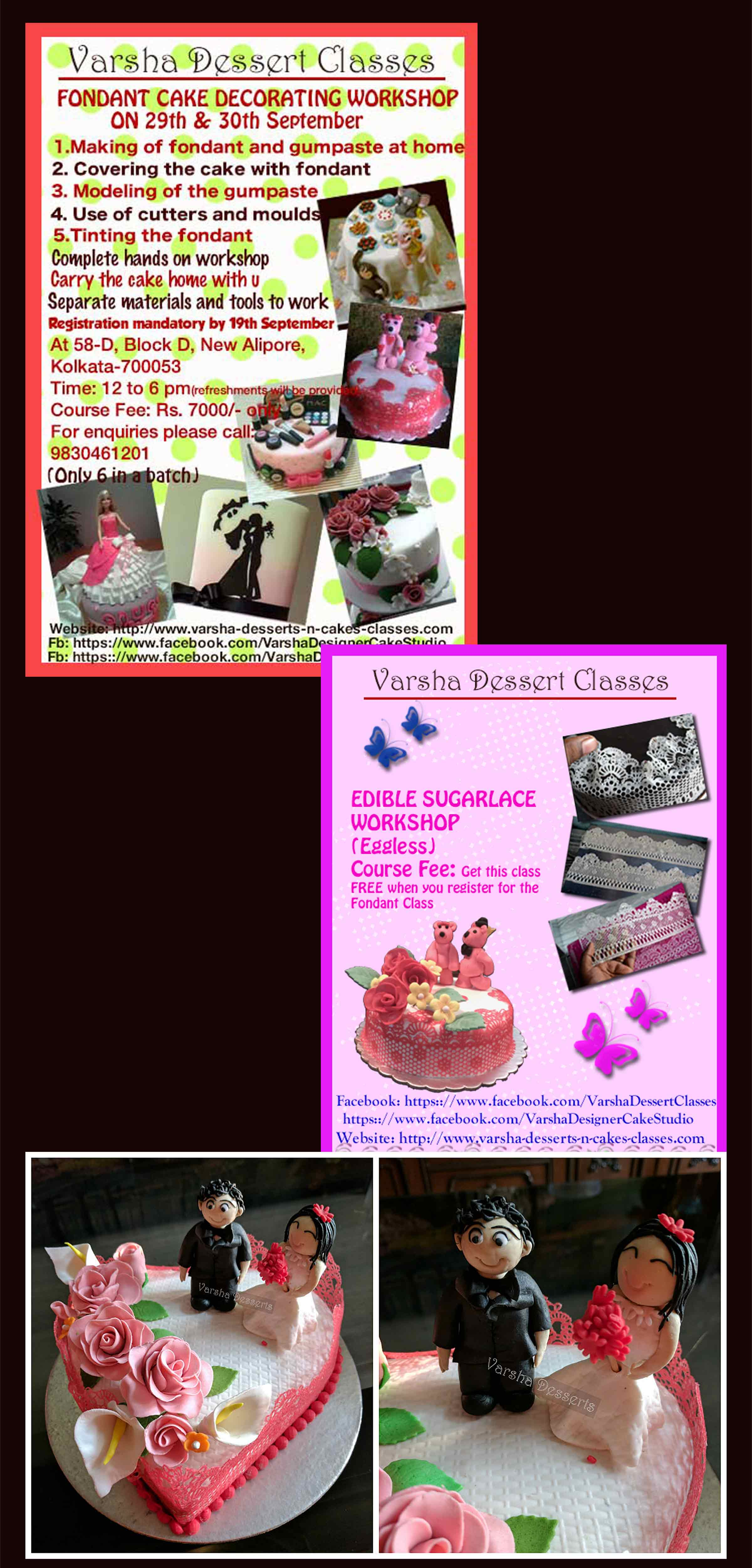 FONDANT WORKSHOP ON 29TH & 30TH SEPTEMBE