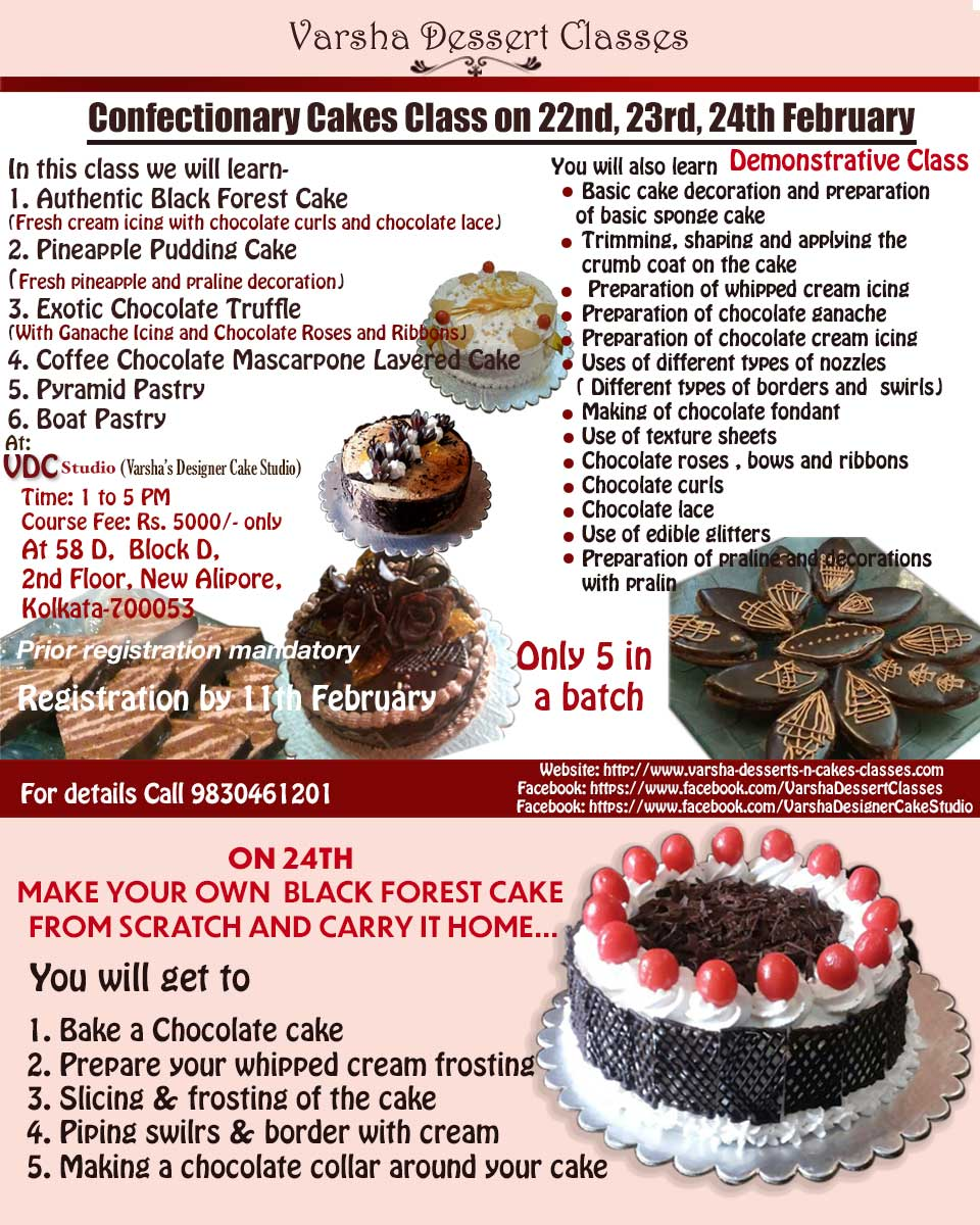 3 DAY CONFECTIONERY CAKES CLASS ON 22ND, 23RD & 24TH FEBRUARY