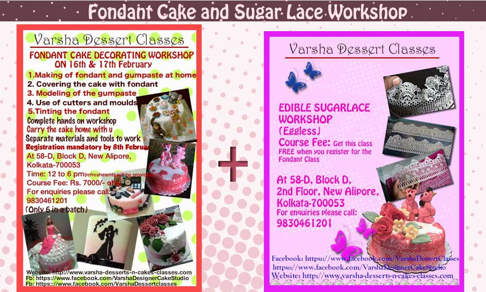 Fondant & SugarLace Workshop on 16th & 17th February