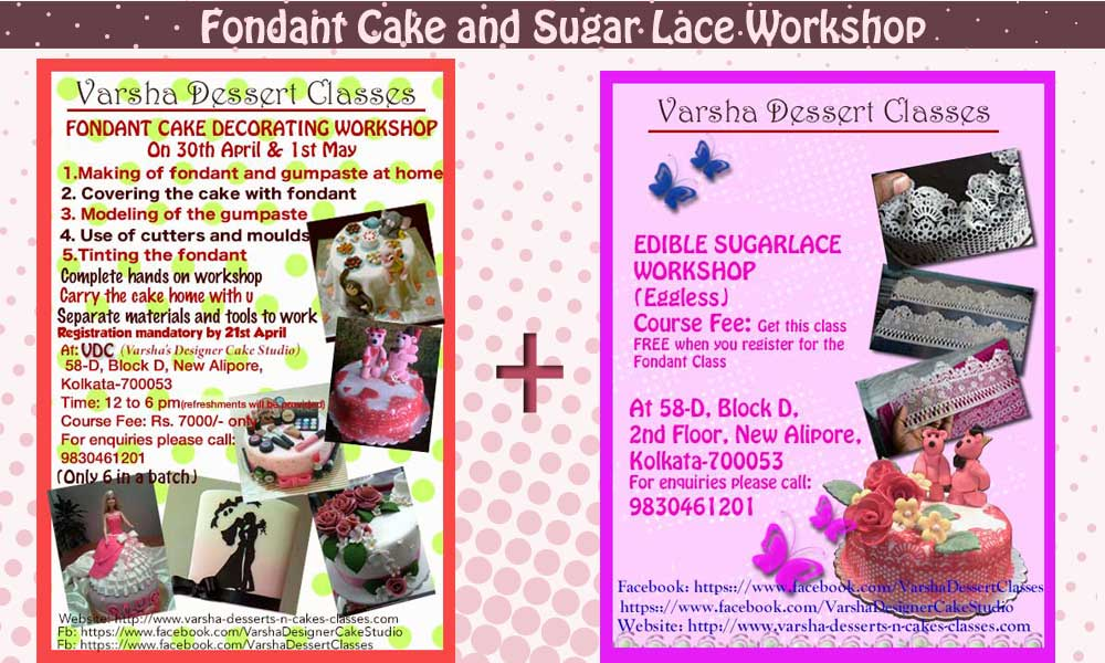 FONDANT & SUGARLACE WORKSHOP ON 30TH APRIL & 1ST MAY